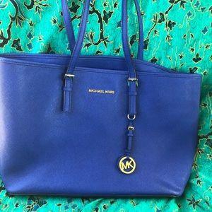 Michael Kors Women's Leather Carryall Tote Handbag